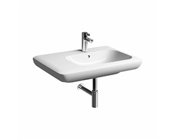 LIFE! 70 cm Asymmetric washbasin, left, with tap hole, with overflow
