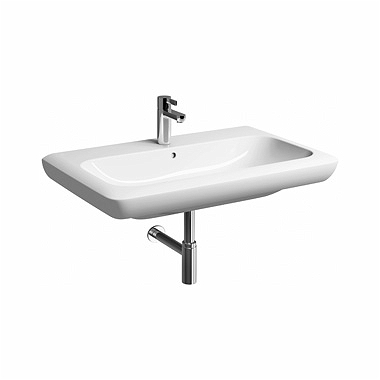 LIFE! 80 cm Washbasin with tap hole, with overflow