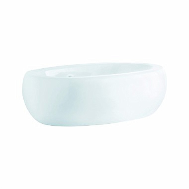 OVUM by Antonio Citterio lay-on washbasin 60 cm, without tap hole, with overflow