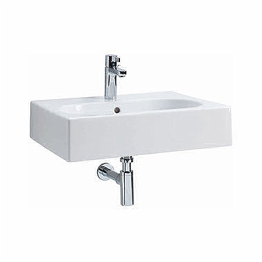TWINS 60 cm rectangular washbasin with oval basin, with tap hole, with overflow