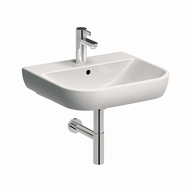 TRAFFIC 65 cm Washbasin with tap hole, with overflow
