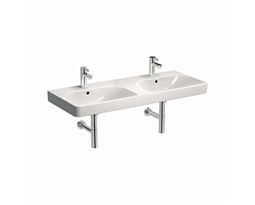 TRAFFIC 120 cm Furniture double washbasin with double tap hole, with double overflow