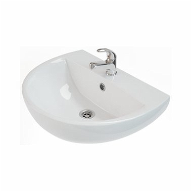 RUNA Washbasin 60 cm, with tap hole, with overflow