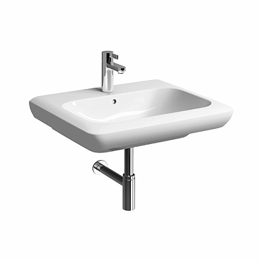 LIFE! 60 cm Washbasin with tap hole, with overflow