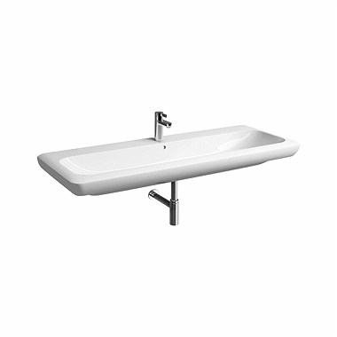 LIFE! 130 cm Washbasin with tap hole, with overflow