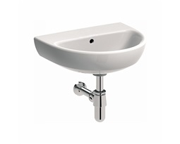 NOVA PRO 50 cm Washbasin without tap hole, with overflow