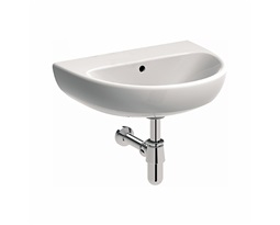 NOVA PRO 55 cm Washbasin without tap hole, with overflow