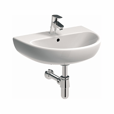 NOVA PRO 50 cm Washbasin with tap hole, with overflow