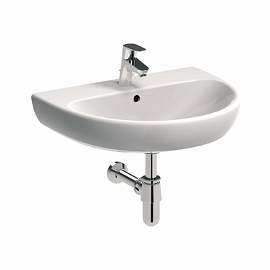 NOVA PRO 60 cm Washbasin with tap hole, with overflow