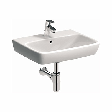 NOVA PRO 55 cm Rectangular washbasin with tap hole, with overflow