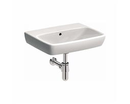 NOVA PRO 55 cm Rectangular washbasin without tap hole, with overflow
