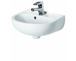 SOLO 50 cm washbasin with tap hole, with overflow