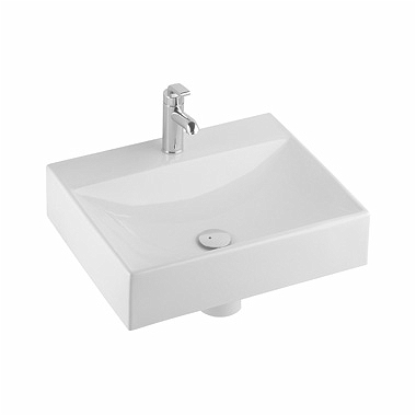QUATTRO 60 cm washbasin, with tap hole, without overflow