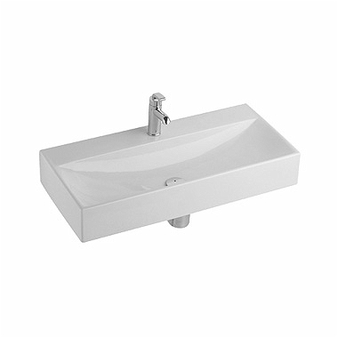 QUATTRO 90 cm washbasin, with tap hole, without overflow