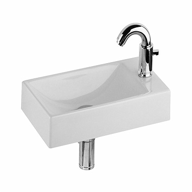 QUATTRO 40 cm washbasin, with tap hole on the right side, without overflow