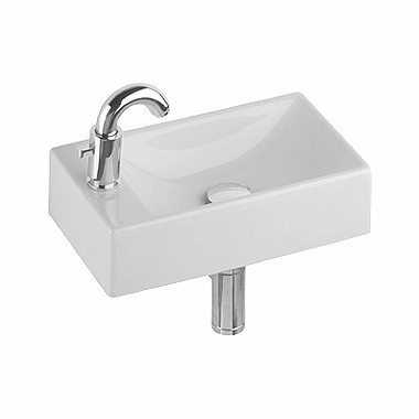 QUATTRO 40 cm washbasin, with tap hole on the left side, without overflow