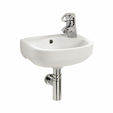 PRIMO 36 cm washbasin with tap hole, on the right side