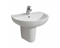 REKORD 55 cm washbasin with tap hole, with overflow