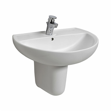 REKORD 60 cm washbasin with tap hole, with overflow