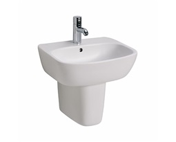 STYLE 55 cm washbasin with tap hole, with overflow