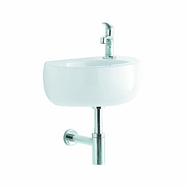 OVUM by Antonio Citterio washbasin 48 cm, with tap hole on the right side, with overflow