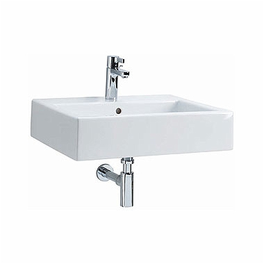 TWINS 60 cm rectangular washbasin with rectangular basin, with tap hole, with overflow