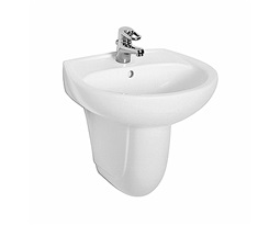 IDOL 50 cm washbasin with tap hole, with overflow