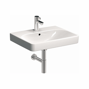 TRAFFIC 75 cm Furniture washbasin, with tap hole, with overflow