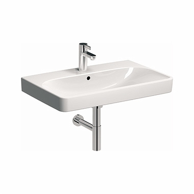 TRAFFIC 90 cm Furniture washbasin with tap hole, with overflow