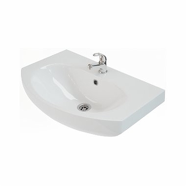RUNA Furniture washbasin 70 cm, with tap hole, with overflow