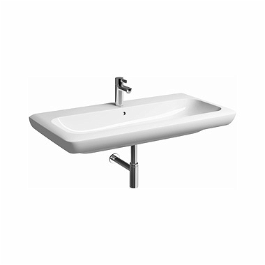 LIFE! 100 cm Washbasin with tap hole, with overflow