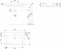 Modo Washbasin 80 Cm With Tap Hole With Overflow