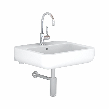 EGO by Antonio Citterio washbasin 60 cm, with tap hole, with overflow