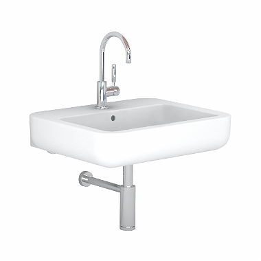 EGO by Antonio Citterio washbasin 65 cm, with tap hole, with overflow