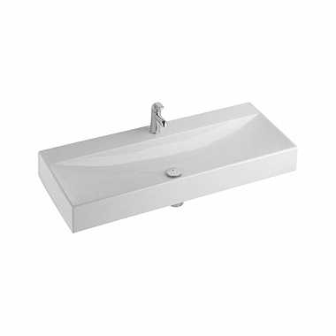 QUATTRO 120 cm washbasin, with tap hole, without overflow