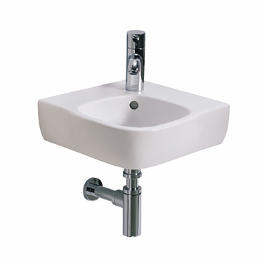 STYLE 50 cm corner washbasin with tap hole, with overflow