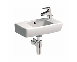 NOVA PRO 45 cm Rectangular washbasin with tap hole on the rihgt side, with overflow