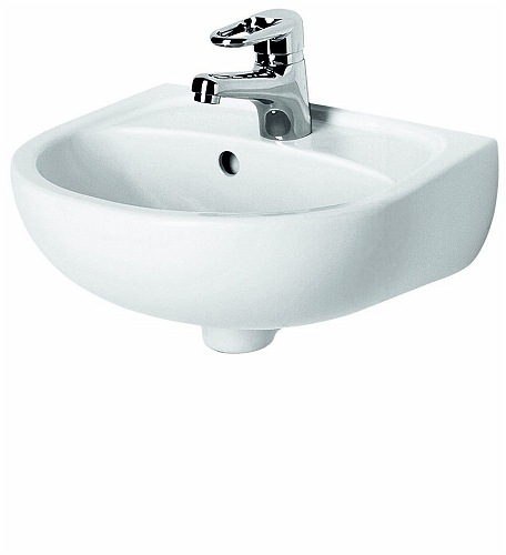 SOLO 40 cm washbasin with tap hole, with overflow