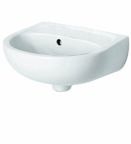 SOLO 40 cm washbasin without tap hole, with overflow
