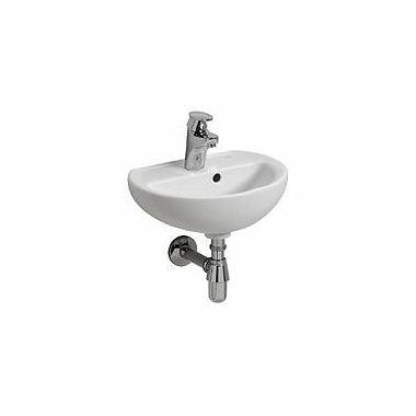 REKORD 40 cm washbasin with tap hole, with overflow