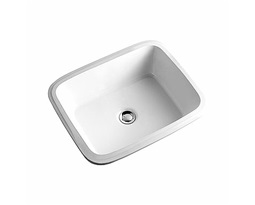 STYLE 52 cm undercounter washbasin, without tap hole, with overflow in front