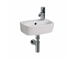 STYLE 36 cm washbasin with tap hole on the right side, with overflow