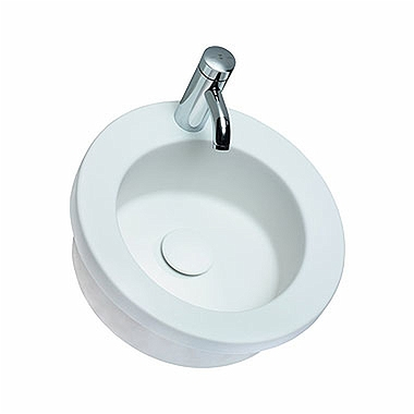 COCKTAIL round insert washbasin Ø 45 cm, with tap hole, without overflow