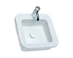 COCKTAIL square insert washbasin 45 cm, with tap hole, without overflow