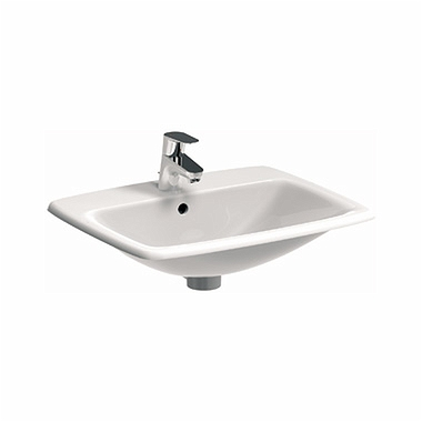 NOVA PRO 60 cm Rectangular insert washbasin with tap hole, with overflow