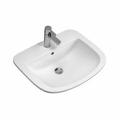 PRIMO 56 cm Insert washbasin with tap hole, with overflow