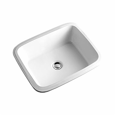 STYLE 56 cm undercounter washbasin without top hole, with overflow in front