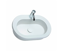 COCKTAIL oval insert washbasin 65 cm, with tap hole, without overflow