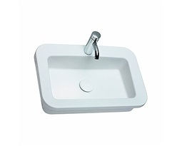 COCKTAIL rectangular insert washbasin 65 cm, with tap hole, without overflow