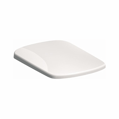 NOVA PRO Rectangular toilet seat, hard, made of Duroplast, soft-close